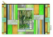 Blue Heron Stained Glass Carry-all Pouch