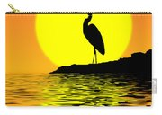 Blue Heron Sunset Carry-all Pouch