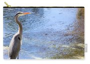 Blue Heron With Shadow Carry-all Pouch