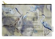 Great Blue Herons Chilling Carry-all Pouch