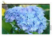 Blue Hydrangea Flowers Art Botanical Nature Garden Prints Carry-all Pouch