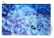 Blue Hydrangea Flowers Art Print Baslee Troutman Carry-all Pouch