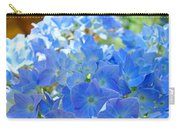 Blue Hydrangea Flowers Art Prints Summer Hydrangeas Baslee Carry-all Pouch