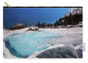 Blue Ice Sheet - Lake Hiayaha Carry-all Pouch