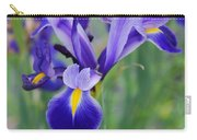 Blue Iris Flower Carry-all Pouch