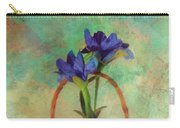 Blue Iris In A Basket Carry-all Pouch