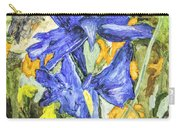 Blue Iris Painting Carry-all Pouch