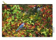 Blue Jay And Berries Carry-all Pouch