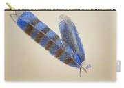 Blue Jay Feathers Carry-all Pouch