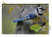 Blue Jay In Red Bud Carry-all Pouch