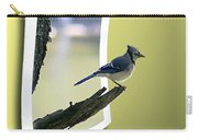 Blue Jay Perched Carry-all Pouch