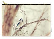 Blue Jay Winter Carry-all Pouch