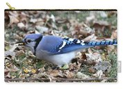 Blue Jay With A Full Mouth Carry-all Pouch