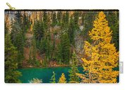 Blue Lake And Early Winter Spires Carry-all Pouch