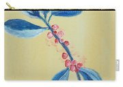 Blue Leaves And Berries Carry-all Pouch