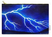 Blue Lightning Above The Ocean Carry-all Pouch