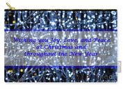 Blue Lights Abstract Christmas Carry-all Pouch