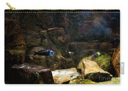 Blue Little Fish In Aquarium Carry-all Pouch