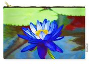 Blue Lotus Flower Carry-all Pouch