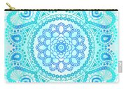 Blue Lotus Mandala Carry-all Pouch