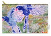 Blue Magpies Carry-all Pouch