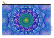 Blue Mandala For Heart Chakra Carry-all Pouch