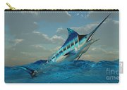 Blue Marlin Burst Carry-all Pouch
