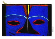 Blue Mask Carry-all Pouch by Angela L Walker