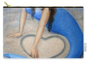 Blue Mermaid's Heart Carry-all Pouch by Sue Halstenberg