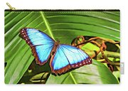 Blue Morpho Butterfly 2 - Paint Carry-all Pouch