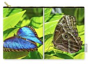 Blue Morpho Butterfly Diptych Carry-all Pouch