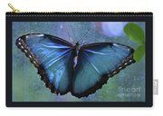 Blue Morpho Butterfly Portrait Carry-all Pouch