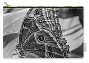 Blue Morpho Butterfly Underside Bw Carry-all Pouch