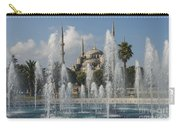 Blue Mosque Through The Fountain Carry-all Pouch
