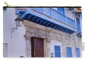 Blue Trim On White Building Carry-all Pouch