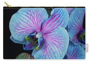 Blue Orchid On Black Carry-all Pouch