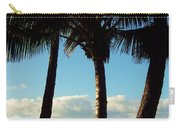 Blue Palms Carry-all Pouch by Karen Wiles