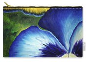 Blue Pansies  Carry-all Pouch