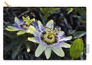 Blue Passion Flower Carry-all Pouch