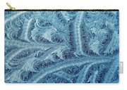 Extraordinary Hoarfrost Scallop Patterns In Blue Carry-all Pouch