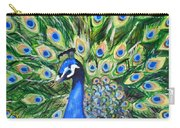 Blue Peacock Carry-all Pouch
