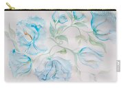 Blue Peonies Carry-all Pouch