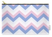 Blue Pink Chevron Pattern Carry-all Pouch