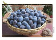 Blue Plums In A Basket Carry-all Pouch