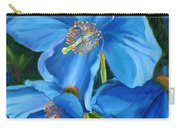 Blue Poppy Carry-all Pouch
