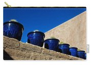 Blue Pottery On Wall Carry-all Pouch