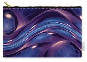 Fractal Wave Blue Purple Carry-all Pouch