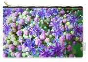 Blue Purple Hydrangea Flower Macro Art Carry-all Pouch