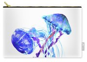 Blue Purple Jellyfish Artwork Design Carry-all Pouch