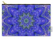 Blue Purple Lavender Floral Kaleidoscope Wall Art Print Carry-all Pouch